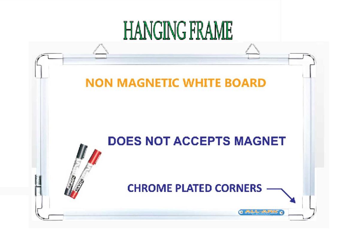 Non Magnetic White Boards